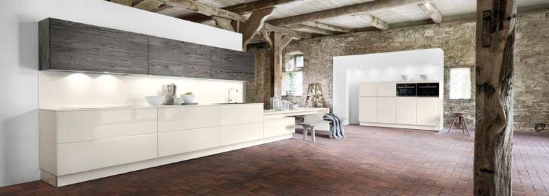 Elegante Küche, magnolie